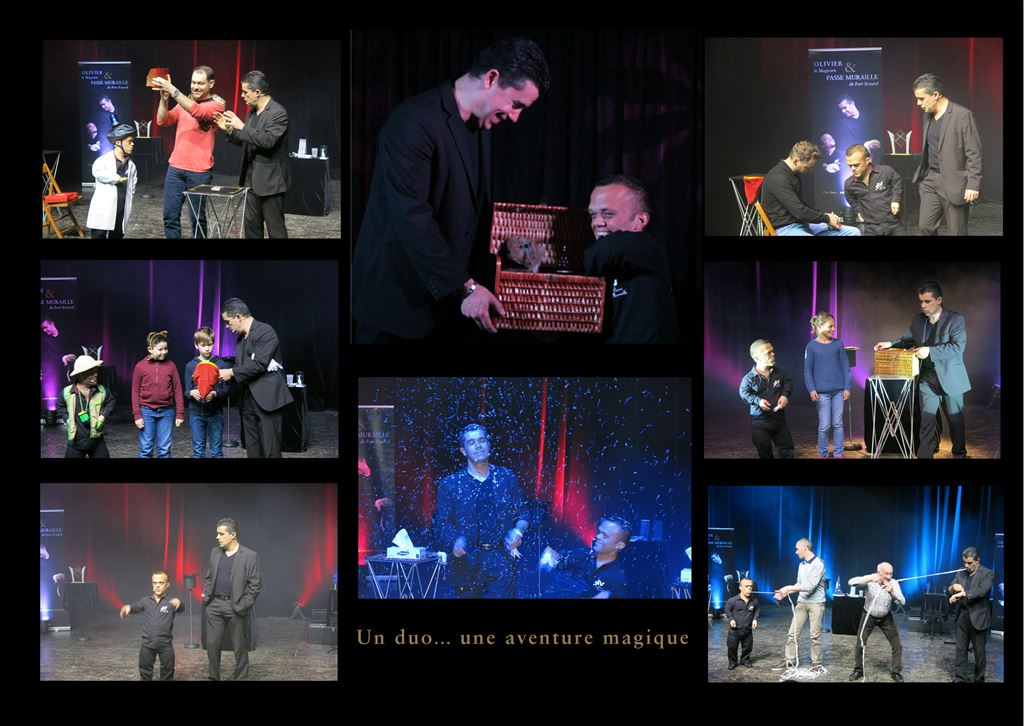 montage photos spectacle DUO OLM et PM